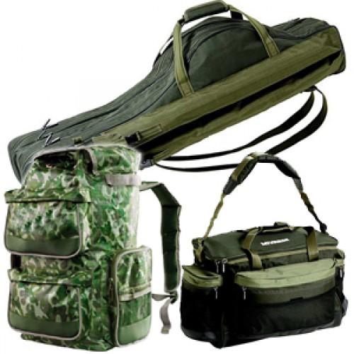 Rybářské tašky, podložky a batohy