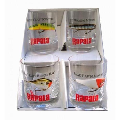 Rapala silnostěnné skleničky 4 ks