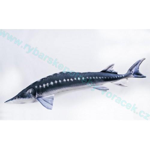 Polštář Jeseter 125cm plyšová ryba