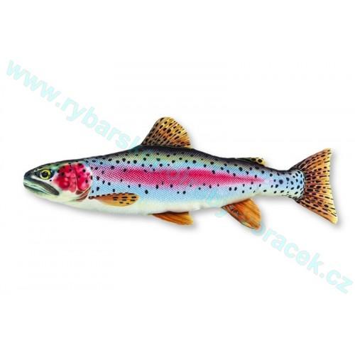 Polštář Pstruh duhový 62cm plyšová ryba