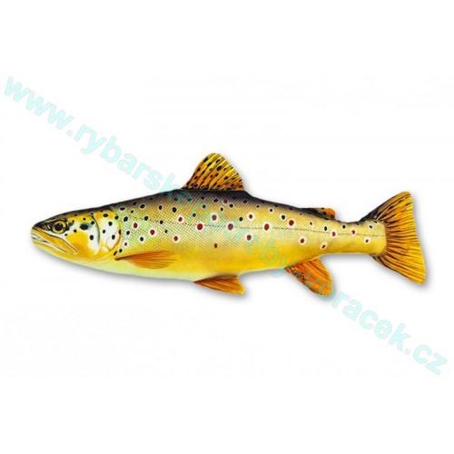 Polštář Pstruh potoční 62cm plyšová ryba
