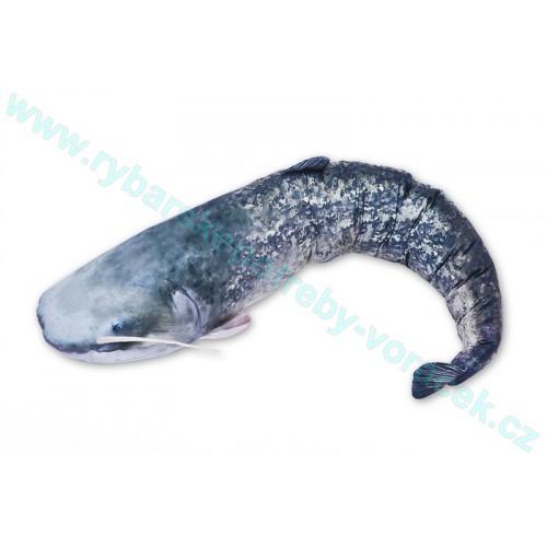 Polštář Sumec 115cm plyšová ryba