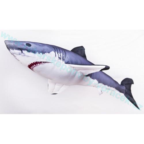 Polštář Žralok bílý 120cm plyšová ryba