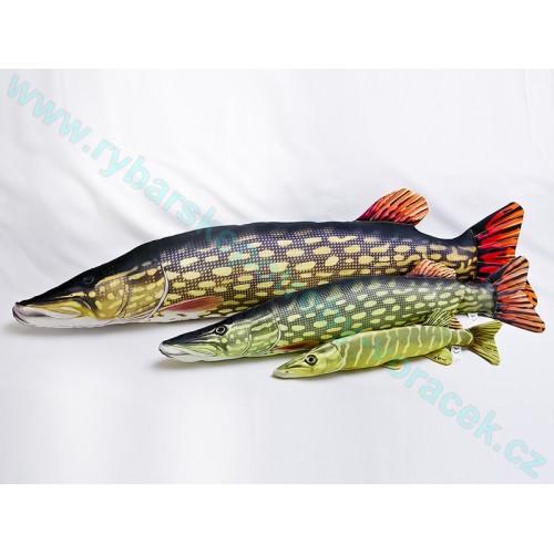 Polštář Štika velka 110cm plyšová ryba
