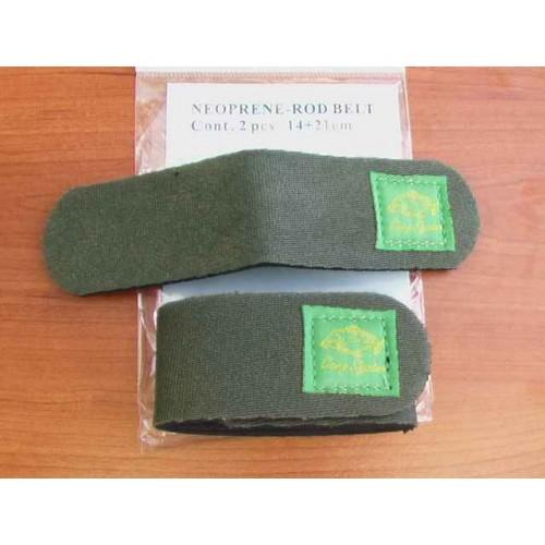 Neoprenové pásky na pruty zelené  2 kusy C.S.