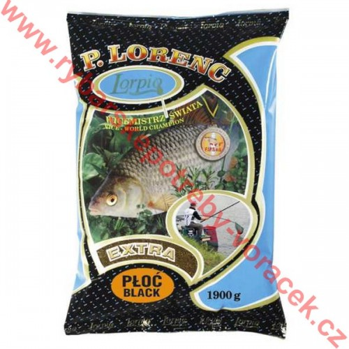 Krmítková a vnadící směs Lorpio černá Plotice 1,9 kg