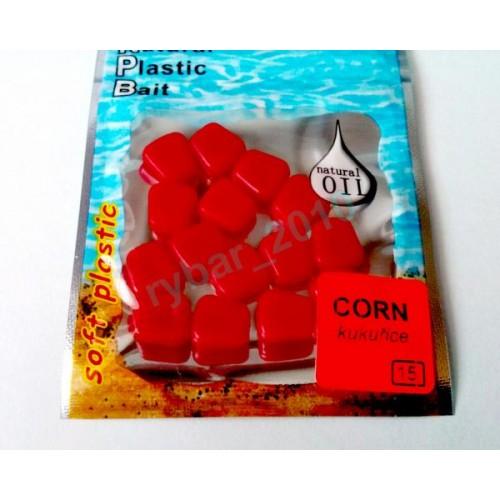 Umělá kukuřice červená 15 ks