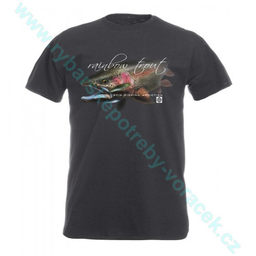 Rybářské tričko Flotsam Duhák s woblerem graphitová