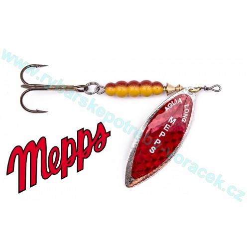 Mepps Aglia Long Redbo červená na stříbru