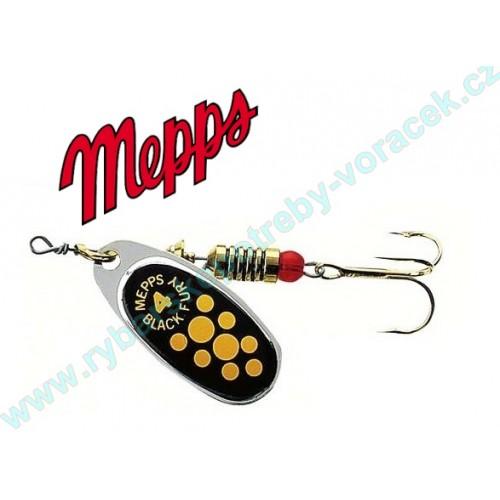 Mepps Black Fury stříbrná-žlutý puntík
