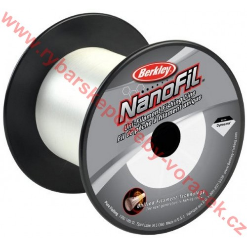 Berkley - vlasec NANOFIL 0,12 - 6,934kg - průhledný