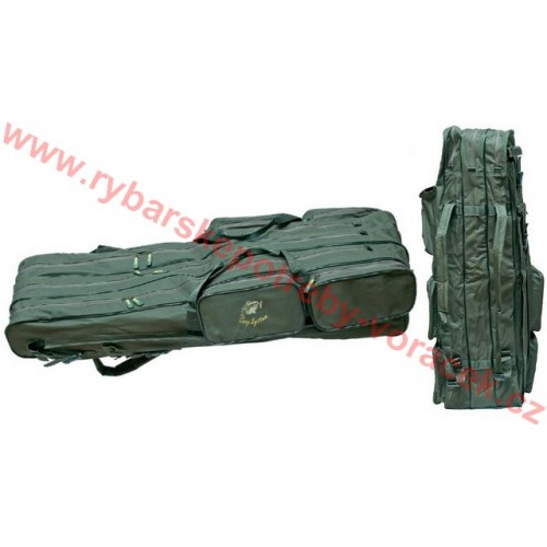 Taška na pruty Carp System tříkomorová zelená